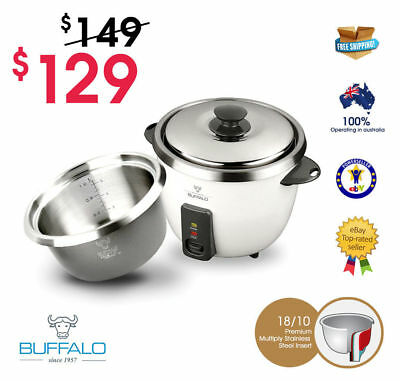 BUFFALO Ezy Small Stainless Steel Rice Cooker (5 cups) SALE | SAVE 20