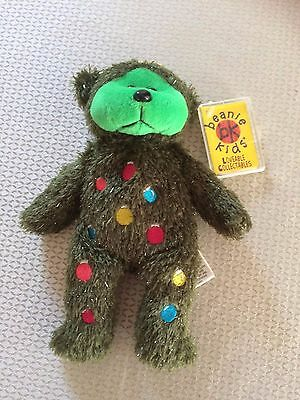"Skansen Beanie Kids  ""TINSEL the CHRISTMAS TREE Bear GRANNY MAY,S EXCLUSIVE """