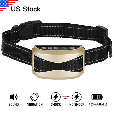 Rechargeable Electric Pet Dog Shock Training Collar Waterproof Anti Bark Collar