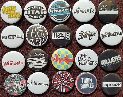Pop Music Button Badges (Collection 4). Pins. Collector. Bargain.  :0)