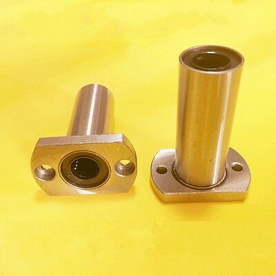 LMH8LUU Long Oval Flange Linear Motion Bearing For CNC Router/3D Printer x 2Pcs