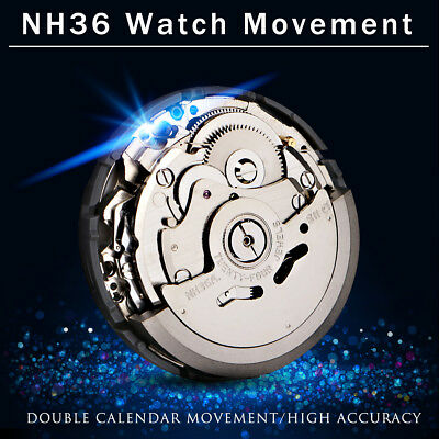 NH36 Japan Mechanical Automatic Watch Day Date Movement Wristwatch High Accuracy