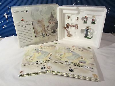 Dept 56 THE PERFECT WEDDING GIFT SET   Seasons Bay Collection  #53417  (Q1016SH)