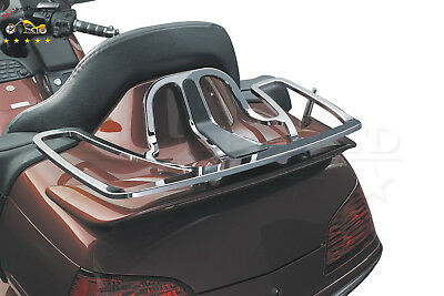 Chrome Trunk Luggage Rack Aluminum For 2001-2014 Honda Goldwing GL1800 Models