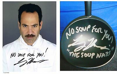 Seinfeld Soup Nazi Photo and Soup Ladle combo personally signed to you