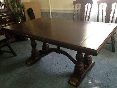 NATIONWIDE SHIPPING Vintage Colonial Dining Table and Chairs, Family Heirloom!