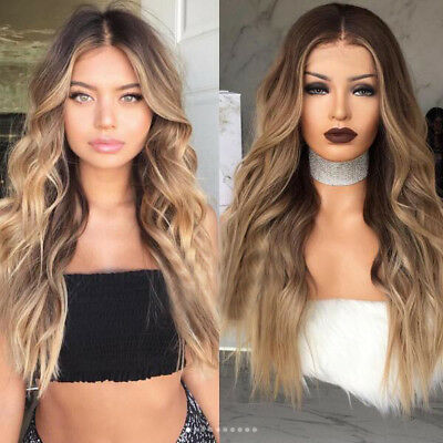 100% Brazilian Virgin Human Hair Wig Ombre Two Tone Full Lace Wig Lace Front Wig