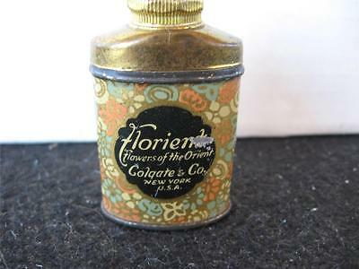 VINTAGE Mini Sample Colgate Florient Talcum Powder Tin