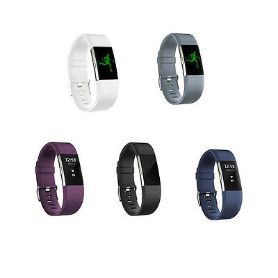 Replacement Silicone Wristband Band Strap For Fitbit CHARGE2 Rubber Bracelet