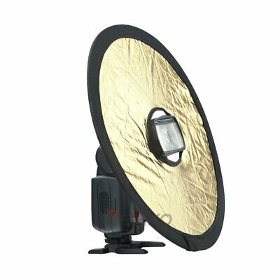 Round Collapsible Magnetic Ring Camera Flash Diffuser Soft Board Reflector