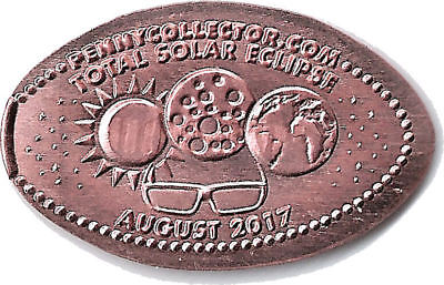 Total Solar Eclipse August 2017 Elongated Pressed Penny (Copper)