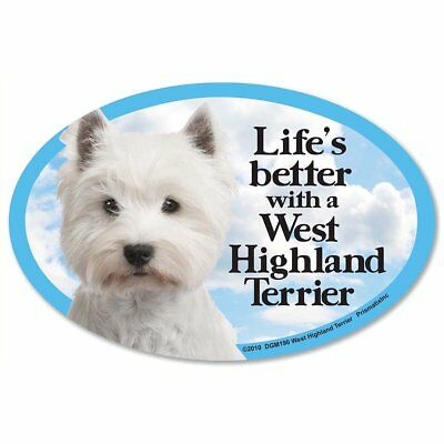Prismatix Decal Cat and Dog Magnets, West Highland Terrier