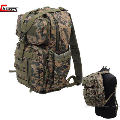 600D Lightweight Molle Military Backpack Camouflage Hiking Bag Tactical Rucksack