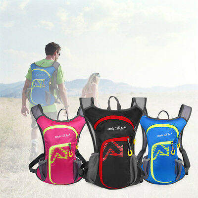 Lightweight 12L Unisex Sports Camping Backpack Hydration Pack Running Riding Bag