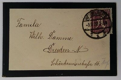 1922 Germany Mourning Cover ties 50 Pfg violet Value stamp canc Heidelberg