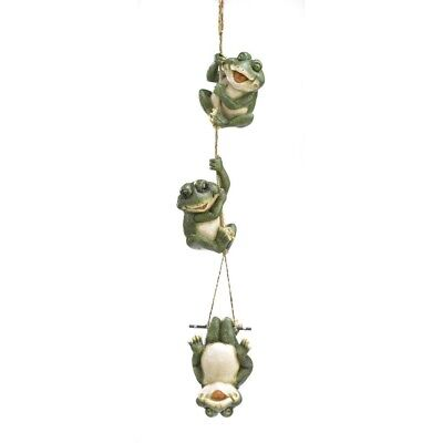 Gifts Decor Frolicking Frogs Hanging Garden Sculpture Decorative