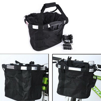 Bicycle Basket Bicycle Aluminum Alloy Bike Detachable Cycle Front Carrier Bag EV