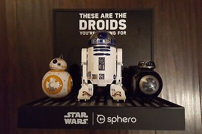 Star Wars Sphero Store Display R2D2 BB8 BB9E These are the Droids Youre Looking