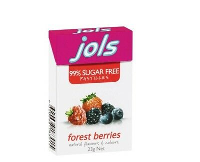 2 x 23g Boxes - Jols 99% Sugar Free Pastilles - Forest Berries NEW