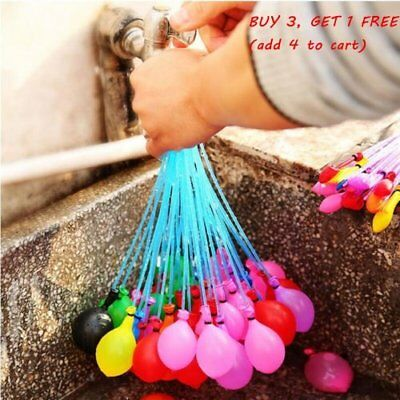 111pcs=3 Bunch Summer water Magic Balloons Filled With Water Kids Outdoor