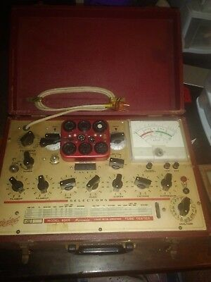 Vintage Hickok Vacuum  Tube Tester. Model 6005- Works Great,  With Owner Manual