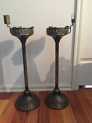 Superb Pair OF  Art Deco Smokers Metal Stands -IMPRESSIVE!