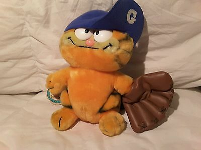 RARE Vintage 1981 Baseball Hero Garfield the Cat Plush by Fun Farm NWT 9""