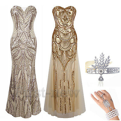 1920s Flapper Dress Gatsby Sequin Cocktail Party Wedding Evening Bridesmaid Prom
