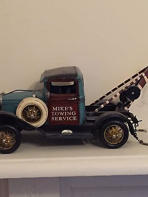 Childrens Decorative Vintage Toy Tow Truck