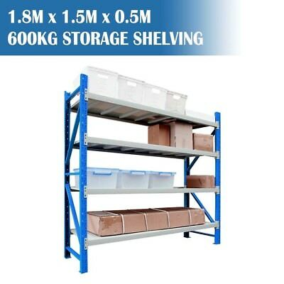 LONGSPAN Container Shelving Garage Storage Long Span Racks 600kg 1.8x1.5x0.5M V