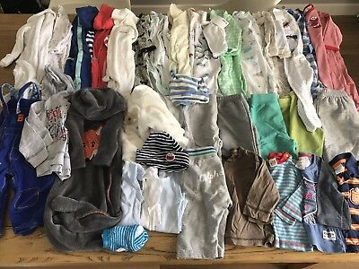 3 - 6 Month Old Size 00 Baby Boy Clothing Bundle. 36 Items!