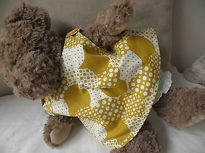 Print sundress/bloomers to fit pumpkin patch teddy 15 inch girls build a bear