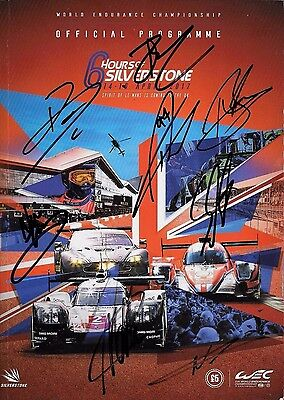 Silverstone 6hrs MULTI SIGNED Programme , 14-16th April 2017  with Poster