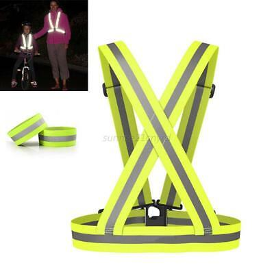 Outdoor Durable High Visibility Safety Straps Unisex Adjustable Reflective Vest