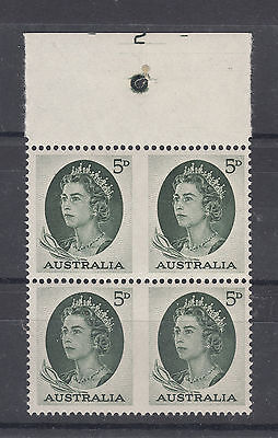 BW Listed 1962 5d QE11 Imperf Between Block PLATE 2 MUH