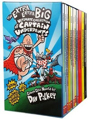 The Extra Extra Big Ultimate collection of Captain Underpants 11 Book Boxset