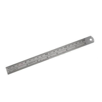 PF Stainless Steel 20cm 8 Inch Metric Straight Ruler Measuring Tool