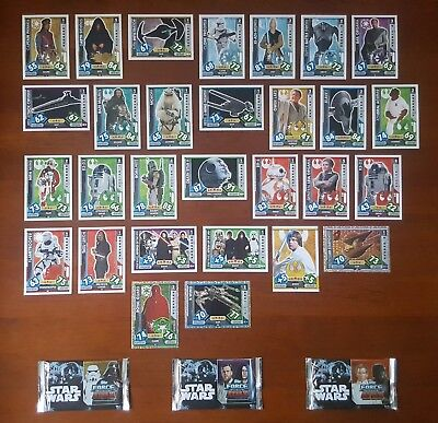 Star Wars Trading Cards - Force Attax Game - Bulk Lot Of 53 Cards