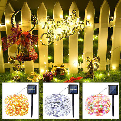 Colorful Solar Power Copper Wire Solar Power String Fairy Light (1/5X100 LEDs)