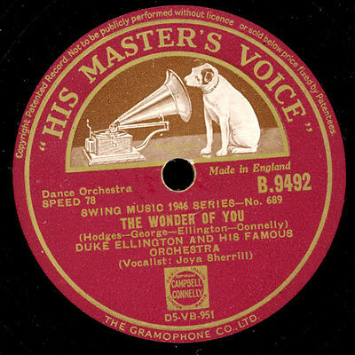 DUKE ELLINGTON &  HIS FAMOUS ORCHESTRA The wonder of you/Come to baby, you! X376