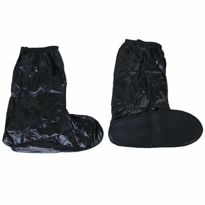 PF Reusuable Waterproof Shoe Covers for Motorcycle Cycling Black---UK 9-10.5