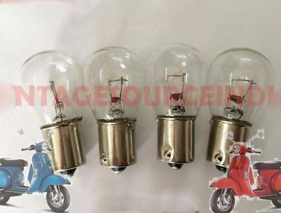 VESPA PX LML STAR STELLA INDICATOR BLINKER BULB SET OF 4Pc TRANSPARENT @AUD