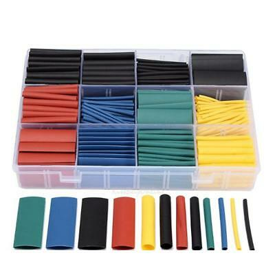 530pcs 2:1 Heat Shrink Tube Tubing Assortment Wire Cable Insulation Sleeving Kit