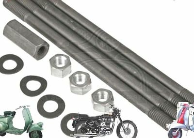 Lambretta Gp Li Cylinder Barrel Studs & Nut Kit @aud