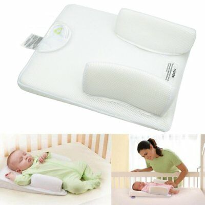 Anti Roll Pillow Prevent Flat Head Cushion Positioner Infant Newborn Baby Sleep