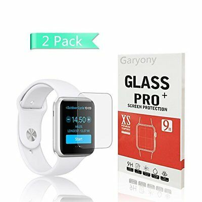 Apple Watch 42mm Tempered Glass Screen Protector Anti-Scratch Bubble Free 2 Pack