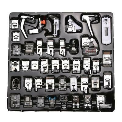42 PCS Domestic Sewing Machine Foot Feet Snap On For Brother Singer Set K1B
