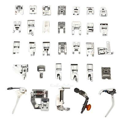 32 PCS Domestic Sewing Machine Foot Feet Snap On For Brother Singer Set K1B