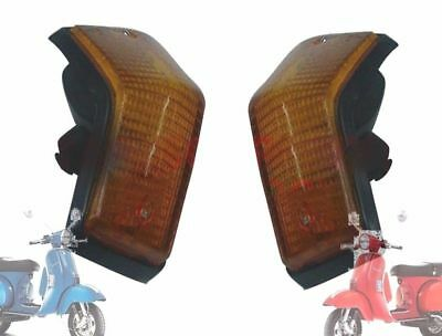 Vespa Px Lml Star Stella Rear Indicator Set Of 2 Amber Yellow @aud