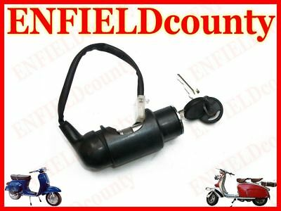 New Vespa Complete Steering Lock With Tube & Ignition System Old Models @aud